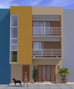 Vue façade orientation: OUEST